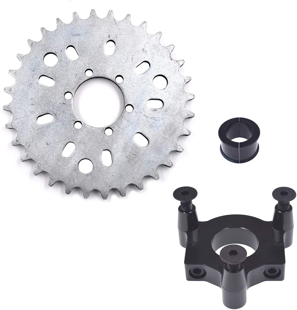 32T Sprocket Adapter Fits 415 Chain 49 50 66cc 80cc 2 Stroke Motorized Bike New