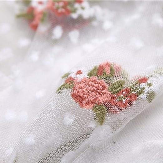 1Pair Glitter Mesh Short Socks Rose Flower Manual Hosiery Ultra-thin Socks