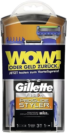 Gillette Fusion ProGlide Power Styler 3 en 1 afeitadora con pilas perfilado, afeitado y contornos modela WOW prueba semanas Edition: Amazon.es: Salud y cuidado personal
