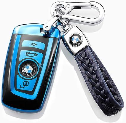 Leather Rope Stripes Car Key Holder Keychain Ring for BMW M X3 X5 X6 1 3 4 5 8