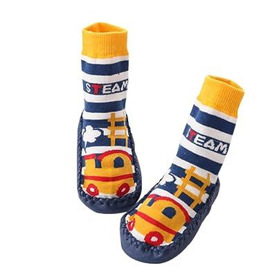 028f1fae63323 Fuyingda Bébé Nourrissons Voiture Mignonne Bambin Anti-Dérapant Chaussettes  Chaussures Chaussons Pantoufles