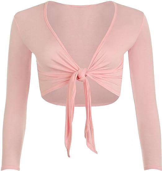 Womens Tie Knot Shrug Short Ladies Crop Cardigan Wrap Bolero Top Plus Size  8-22  Amazon.co.uk  Clothing 35493cdc0