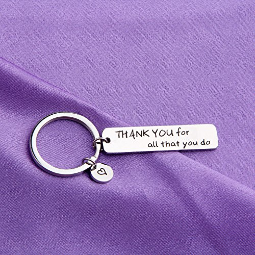 MAOFAED Appreciation Gift Thank You For All That You Do Cuff Bracelet Thank You Gift for Nurse Teacher Coach Employee (Thank you Keychain) by MAOFAED (Image #4)'