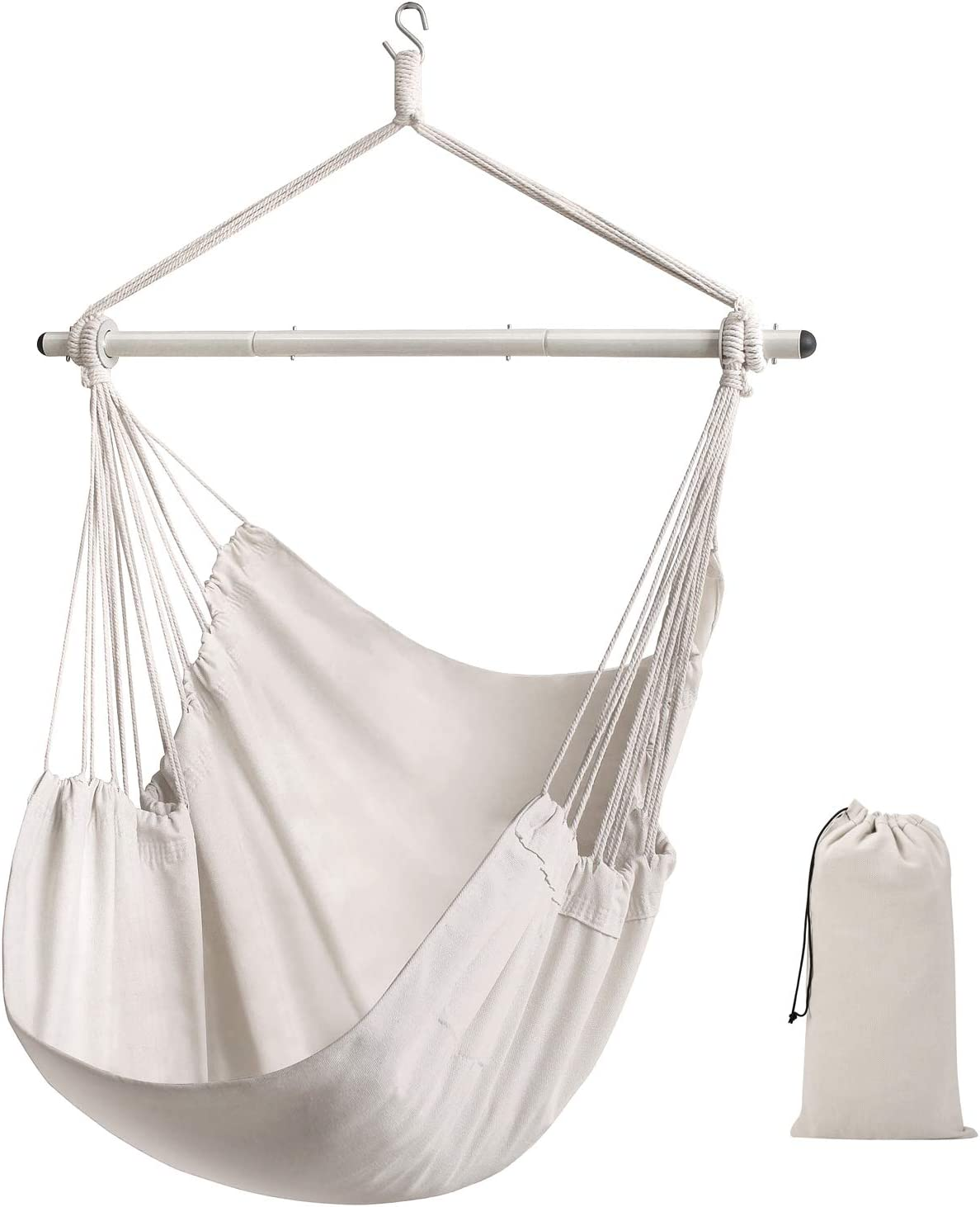 ADVOKAIR Hammock Chair Hanging Swing Chair Large Hanging Chair Soft Comfort Durability: Kitchen & Dining