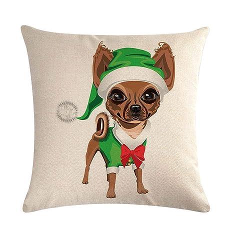 JUNMAONO Funda de Cojín Navidad Fundas de Cojín Throw Pillow ...