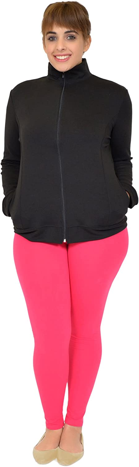 Stretch is Comfort Womens Plus Size Rayon Live Love Cheer Warm Up Black Jacket