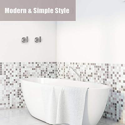 Bathroom Zinc Alloy Triple Prong Towel Hook Wall Hanger Black 4pcs