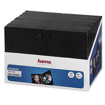 Hama 11495 - Pack de 30 Cajas para CD/DVD, Negro: Amazon.es ...