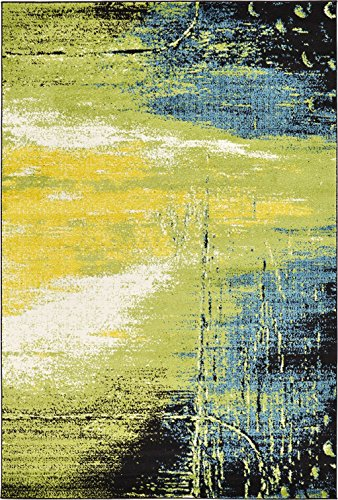 light blue abstract area rug - 4
