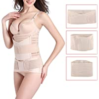 3 in 1 Postpartum Girdle Support Recovery Belly Band Corset Wrap Body Shaper for After Birth Postnatal C-Section Waist Pelvis Shapewear