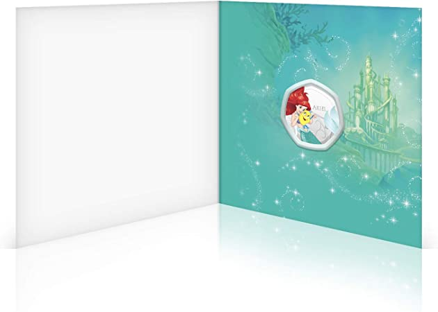 Disney Princess Birthday Card Gifts Present Blank Card with 50p Shaped Keepsake Coin Included Mulan