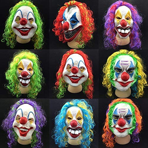 Mask Halloween - Scary Clown Mask Joker Men 39 S Full Face Horror Funny Masquerade Costume P20 - Mike Mustache Casa Light Venice Batman Scary Men Rubies Of