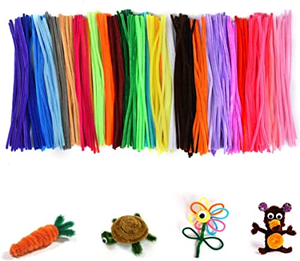 0.24 X 12 Inch, Assorted 10 Bright Colors UPINS 150 Pcs Pipe Cleaners Craft Chenille Stems for DIY Crafts Decorations