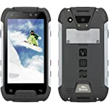 SNOPOW M10 Unlocked 4G LTE IP68 Waterproof Dustproof Shockproof Outdoor Tri-proof Rugged Android Smartphone With DualSIM Powerbank NFC LED Flashlight (Black)