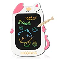 KOKODI Girls Toys for 3-6 Years Old Girls Boys, 8.5in Colorful LCD Writing Tablet Doodle Board, Educational and Learning Toy Birthday Gift for 3 4 5 6 12 Years Old Girls and Boys-Pink White