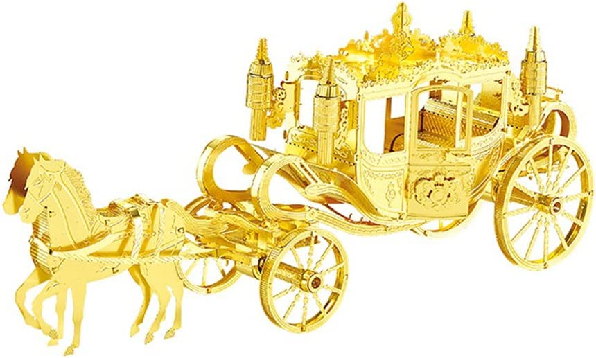 MOTU 3D Metal Nano Puzzle Royal Carriage Assemble Model Kits F22202T DIY 3D Laser Cut Jigsaw Toys