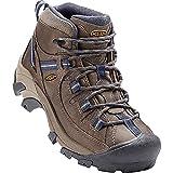 Keen Women's Targhee II Mid Waterproof Hiking Boot,Goat/Crown Blue,US 9 M