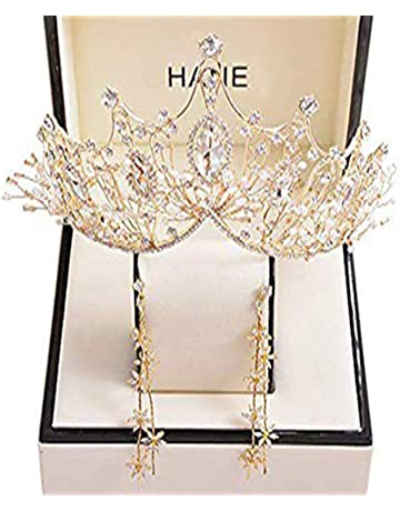 NEW Beautiful Gold Tone /& Clear Crystal Leaf Hair Clip UK Seller