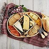 Slate and Wood Cheese Board Set, Include Cheese