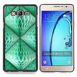 Stuss Case / Funda Carcasa protectora - Linterna Verde trullo 3D Arte Polígono - Samsung Galaxy On7 O7