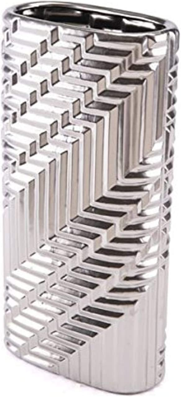 Zuo A10464 Mod Vase Small Matt Silver