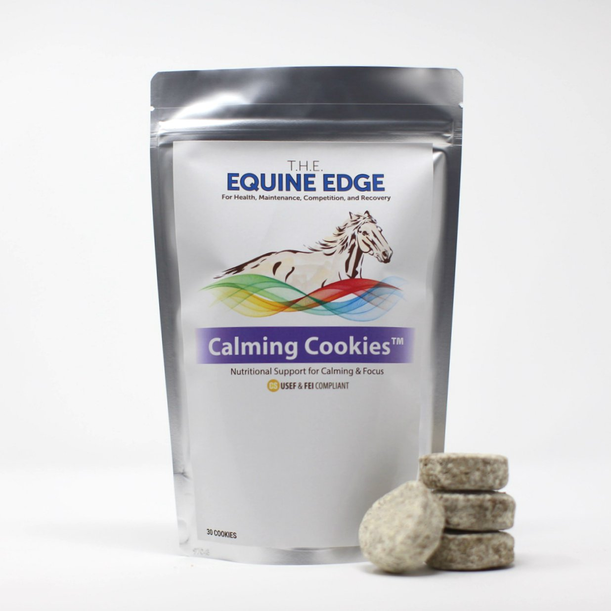 Calming Cookies - Natural Horse Supplements for Calming & Focus, 30 Cookies by T.H.E. Equine Edge