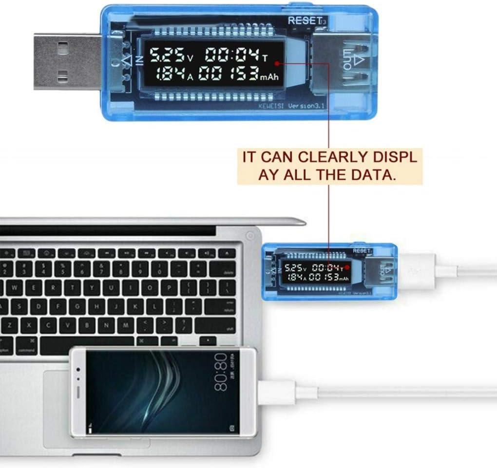 ARCELI USB LCD Digital Current Voltage Doctor Capacity Tester Voltmeter Ammeter Detector Power Bank Charger Meter
