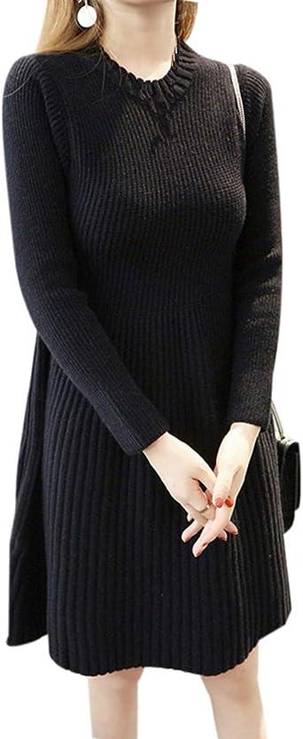 Zhxinashu Women Knit Loose Maternity Dress Sweater Pregnancy Wear Black At Amazon Women S Clothing Store