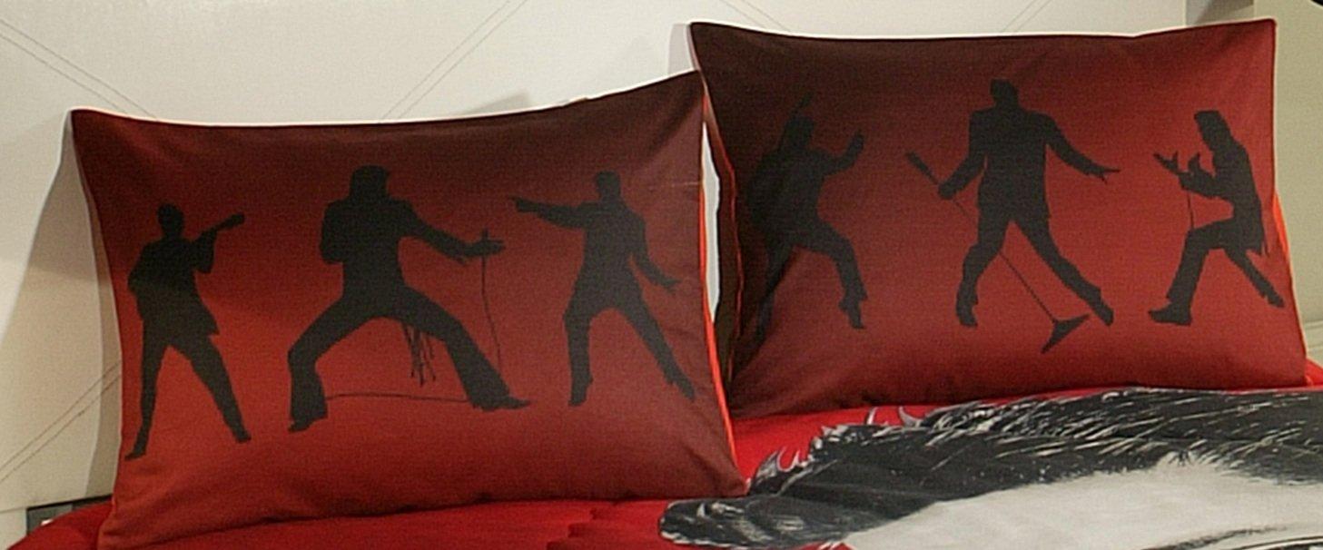 ''Dancing Elvis'' 3 Piece King Size Bedding Set by Elvis Presley Home Bedding Colection (Image #3)