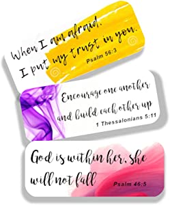 Bible Verse Stickers (Set of 42 Stickers with 21 Christian Scripture)
