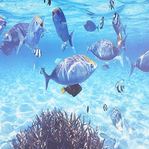 3d Undersea Wallpaper Fish Print Embossed Non Woven Ocean World Wall