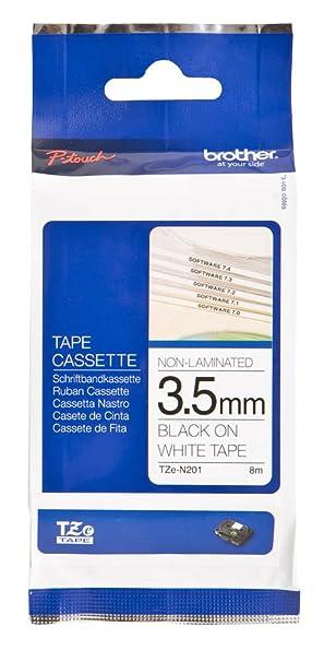5tlg Schwarz auf Weiß 12mm Schriftband-Kassette für Brother TZ-231 TZE-231