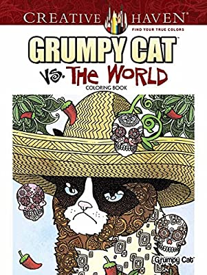 Creative Haven Grumpy Cat Vs. The World Design Coloring Book