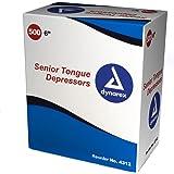 Dynarex Tongue Depressor, Senior, 6 Inches, Non-Sterile, 500 Count