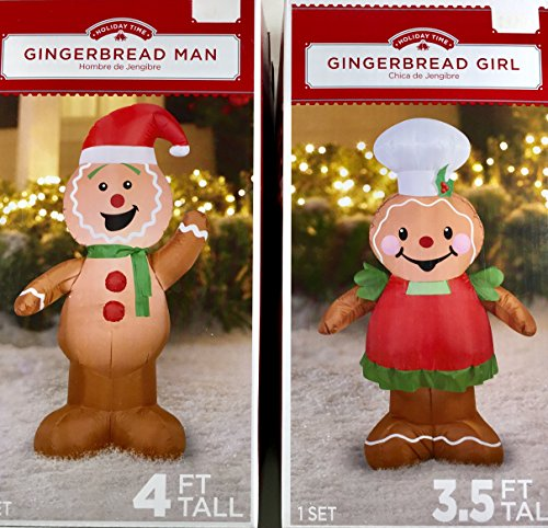 Outdoor Lighted Gingerbread Man Decorations - 4