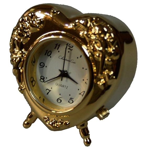 Reloj de sobremesa Decoracion Miniatura Corazón (3,5 x 3,5 x 1