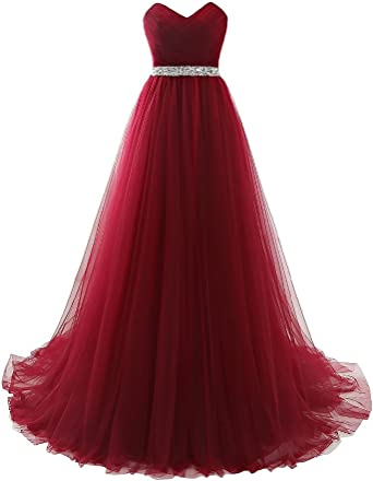 Smoky dress Beaded tulle prom dress Dress with a sweetheart bodice Burgundy dress with pearls Red dress Elegant black dress with beads