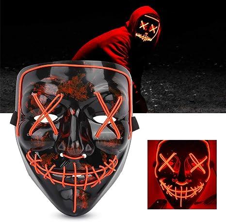 Halloween Máscara, la Purga máscara LED,máscara de Terror ...