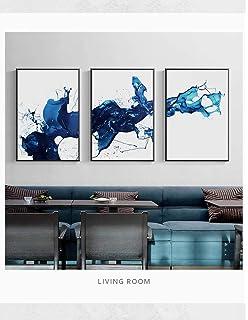 50 cm x 70 cm x 3 Pezzi Senza Cornice AKLIGSD Quadri su Tela Pittura su Tela Moderna Arte Astratta Fiore per Soggiorno Cucina Camera da Letto