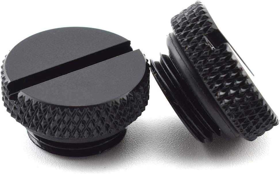 Black SDTC Tech 6 Pack G1//4 Plug Fitting with O-Ring for PC Water Cooling Systems