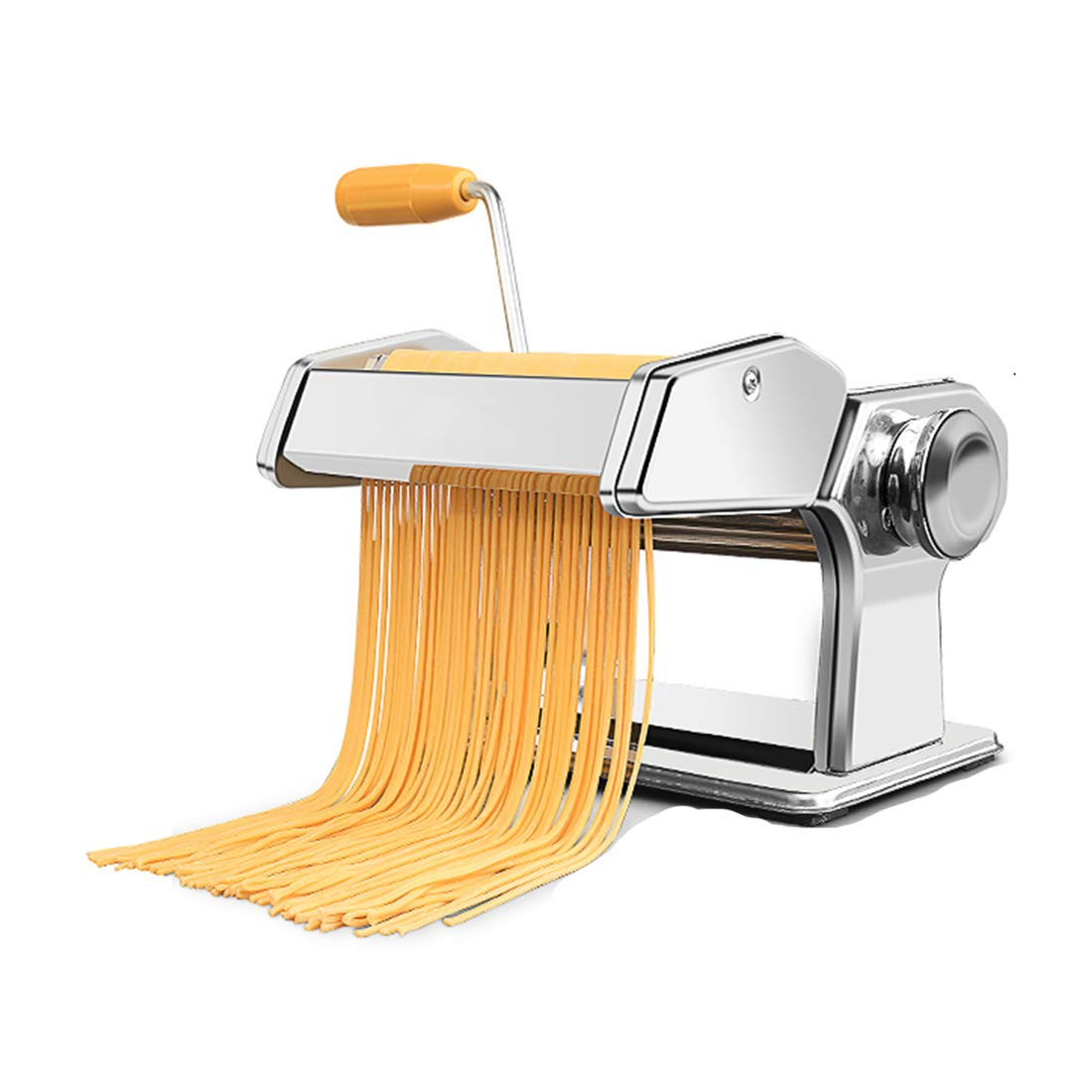 RRH Stainless Steel Pasta Roller Maker Machine Cutter, 2 Cutting Die and Flat roller with Table Top Clamp for Spaghetti Noodle Lasagna Tagliatelle by RRH