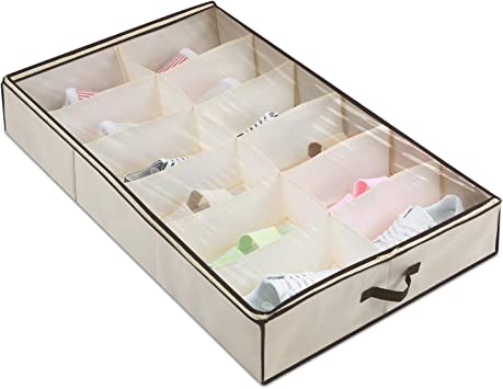 Amazon Com Magicfly Under Bed Shoes Storage Organizer With Built
