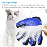 Xubox Pet Grooming Glove, Gentle Deshedding Brush