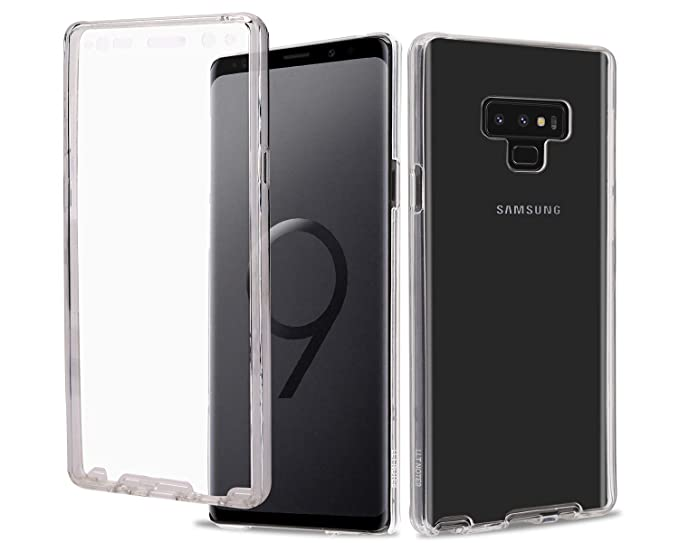 new concept d17c9 6e46b Casetego Compatible Note 9 Case,360 Full Body Two Piece Slim Crystal  Transparent Case with Built-in Screen Protector for Samsung Galaxy Note  9,Clear