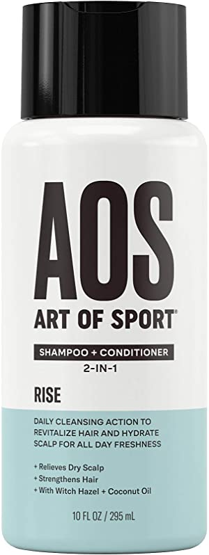 Art of Sport Sulfate Free Shampoo and Conditioner, Rise Scent, Men's Shampoo for Dry Scalp, Hair Strengthening with Hydrating Coconut Oil, For all Hair Types, 10 oz