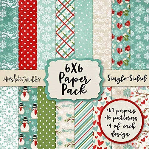 6X6 Pattern Paper Pack - Winter Wonderland - Card Making Scrapbook Specialty Paper Single-Sided 6
