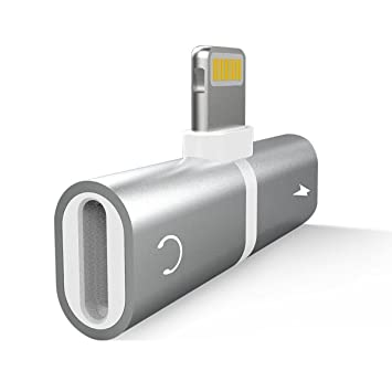 JTLife iphone ライトニング イヤホン変換アダプター 2in1 lightning iPhone イヤホンジャック 二股 アダプタ  音楽急速充電