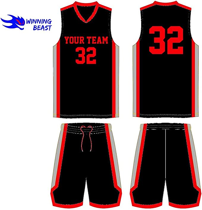 Amazon.com: Winning Bestia baloncesto uniformes en cantidad ...