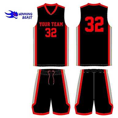 4984500eb21 Lot of 10 Basketball Uniforms Kits (Jersey and Shorts) Custom Made in Your  Team