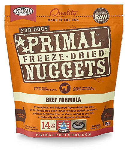 Primal Pet Foods Freeze-Dried Canine Beef Formula 14 Oz (Best Frozen Chicken Nuggets Brand)